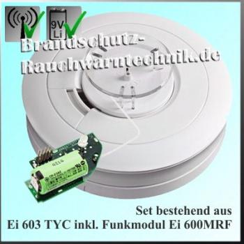 Rauchwarnmelder Inkl Funkmodul Ei650w Mit Ei600mrf Brandschutz