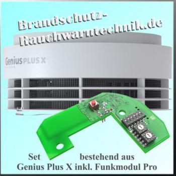 Klebepad Rauchmelder Genius Plus X Funkmodul Pro X Hekatron 3er Set